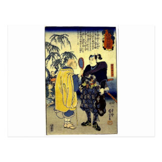 Miyamoto Musashi and the Fortune Teller c. 1800's Post Cards