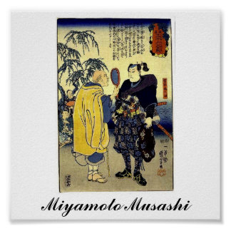 Miyamoto Musashi and the Fortune Teller c. 1800's Poster
