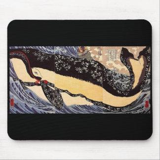 Miyamoto Musashi anti- whale, Utagawa country 芳 Mouse Pad