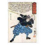 Miyamoto Musashi dos espadas Postal