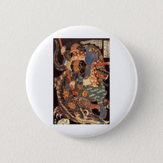 Miyamoto Musashi Ink Painting Button