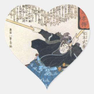 Miyamoto Musashi Painting c 1800 s Stickers