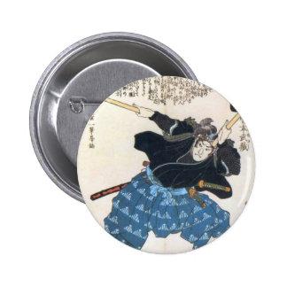 Miyamoto Musashi Painting c. 1800's Pinback Buttons