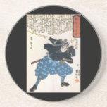 Miyamoto Musashi Painting c. 1800's Drink Coaster