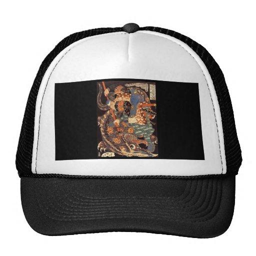 Miyamoto Musashi Painting c. 1800's Hats