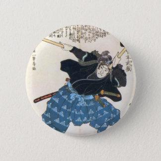 Miyamoto Musashi Painting c. 1800's Pinback Button