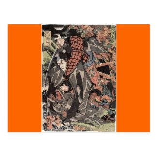 Miyamoto Musashi Painting, c. 1800's Post Card