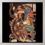 Miyamoto Musashi Painting c. 1800's Print