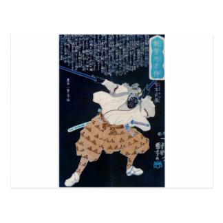 Miyamoto Musashi Painting c. 1800's Print Post Card