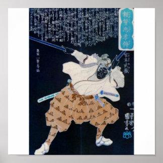 Miyamoto Musashi Painting circa 1800's Poster