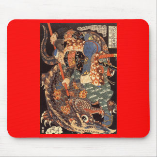 Miyamoto Musashi que pinta C. 1800's Alfombrillas De Ratones