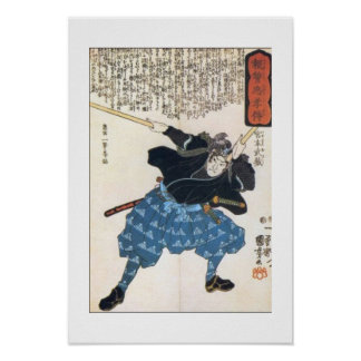 Miyamoto Musashi que pinta C. 1800's Posters