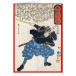 Miyamoto Musashi que pinta C. 1800's Tarjetón