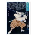 Miyamoto Musashi que pinta la impresión de la C. 1 Tarjeta Postal
