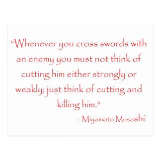 Miyamoto Musashi Quote Postcard