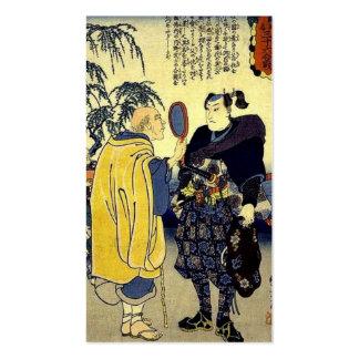 Miyamoto Musashi y el adivino C. 1800's Tarjetas De Visita