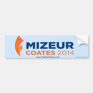 Mizeur Coates 2014 Bumper Sticker Car Bumper Sticker