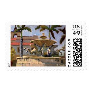Mizner Memorial Fountain postage stamp