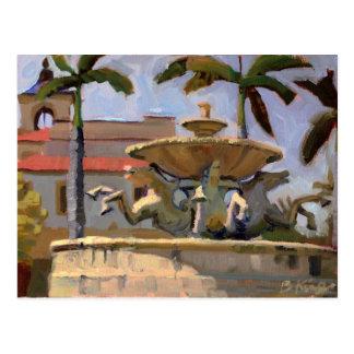 Mizner Memorial Fountain postcard