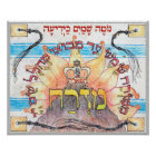 """Mizrach ~ """"East"""" in Hebrew,  direction for prayer Poster"""