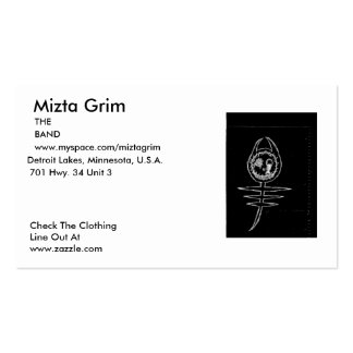 Mizta Grim Cards Set 1 Double-Sided Standard Business Cards (Pack Of 100)