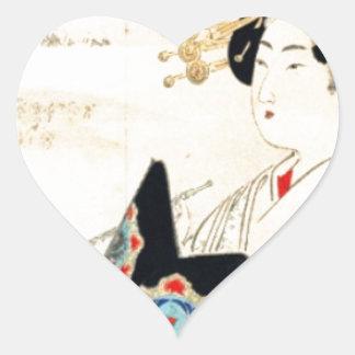 Mizuno Toshikata 水野年方, Courtesan - Asian Art Heart Sticker