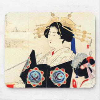 Mizuno Toshikata 水野年方, Courtesan - Asian Art Mouse Pad
