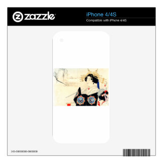 Mizuno Toshikata 水野年方, Courtesan - Asian Art Skin For The iPhone 4