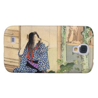 Mizuno Toshikata, Bijin combing hair vintage japan Galaxy S4 Covers