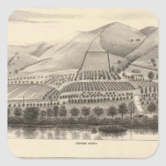 Mizzen Rancho superior Pegatina Cuadrada