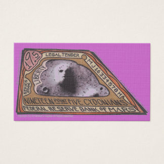 MJ12club* Martian Money $19.5 CYDONIANS Note Business Card