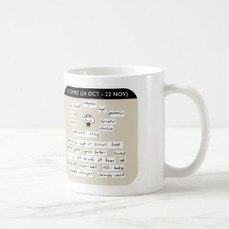 MJ1437, Mahoney Joe, scorpio Classic White Coffee Mug