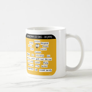 MJ1445 mahoney joe, capricorn, starsign, zodiac Classic White Coffee Mug