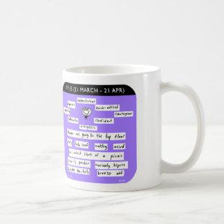 """MJ1449 """"mahoney joe"""" aries zodiac starsign Classic White Coffee Mug"""