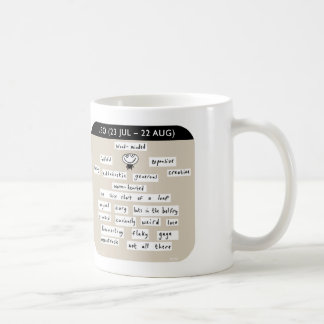"""MJ1453, """"Mahoney Joe"""", leo, zodiac, starsign Classic White Coffee Mug"""