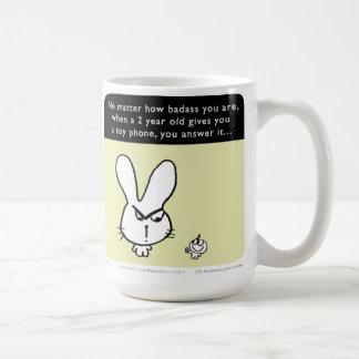 """MJ1516 """"Badass Bunny"""" """"Mahoney Joe"""" Classic White Coffee Mug"""