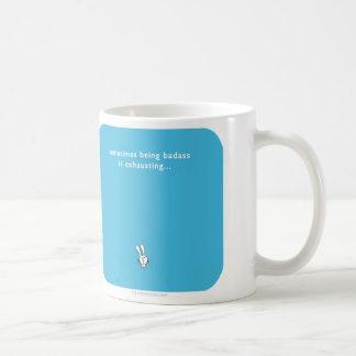 MJ1561 badass sometimes exhausting bunny Classic White Coffee Mug