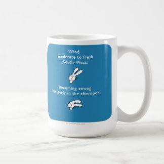 "MJ1562 ""mahoney joe"" wind bunny rabbit ears Classic White Coffee Mug"