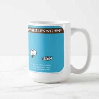 "MJ1570 ""happiness lies within"" ""mahoney joe"" Classic White Coffee Mug"