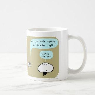 MJ1573 mahoney joe saturday toasters can't talk Classic White Coffee Mug