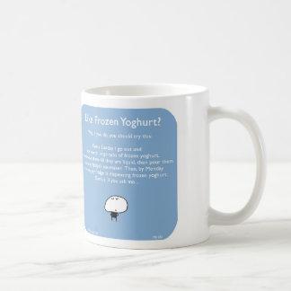 """MJ1582, """"Mahoney Joe"""", """"frozen yoghurt"""", yoghurt, Classic White Coffee Mug"""