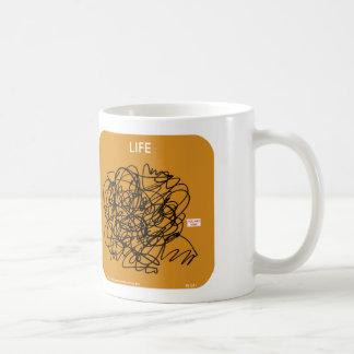 """MJ1591, mahoney joe, life, """"you are here"""" Classic White Coffee Mug"""