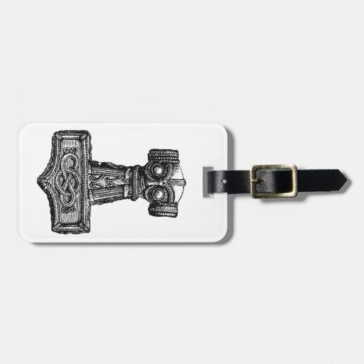Mjolnir: El martillo del Thor Etiquetas Para Maletas