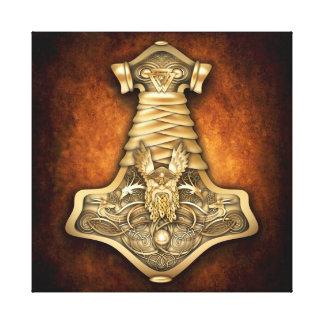 Mjolnir - el martillo del Thor Impresion En Lona
