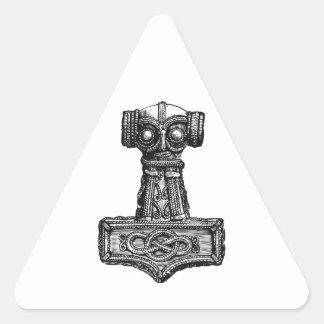 Mjolnir: El martillo del Thor Pegatina Triangular