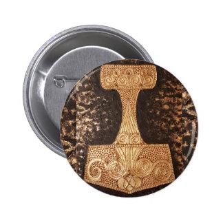 Mjolnir, el martillo del thor pin redondo de 2 pulgadas