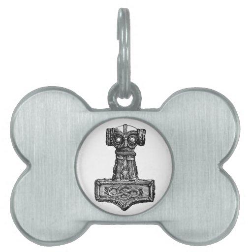 Mjolnir: El martillo del Thor Placas De Mascota