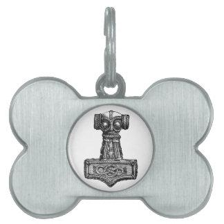 Mjolnir: El martillo del Thor Placas Mascota