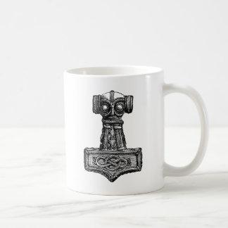 Mjolnir: El martillo del Thor Taza Básica Blanca