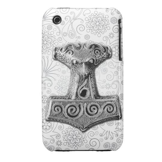 Mjölnir in silver - iPhone Case 2